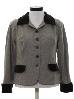 1980's Womens Totally 80s Wool Jacket