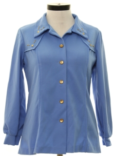 1970's Womens Western Style Leisure Shirt