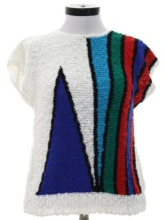 1980's Womens Totally 80s Knit Shirt