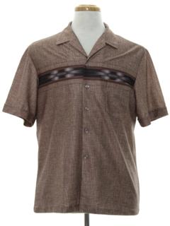 1980's Mens Print Disco Style Shirt
