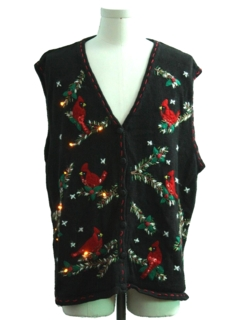 1990's Unisex Amber Lightup Ugly Christmas Sweater Vest