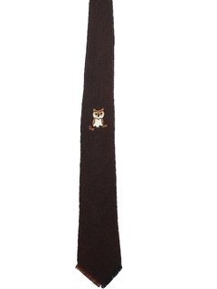 1950's Mens Wool Necktie