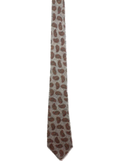 1960's Mens Wool Necktie