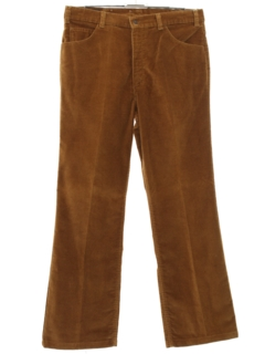 1970's Mens Corduroy Flared Jeans Cut Pants