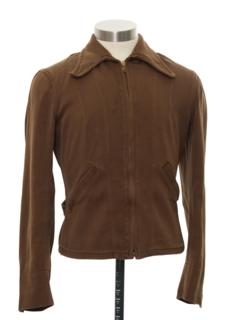1940's Mens Western Style Zip Jacket