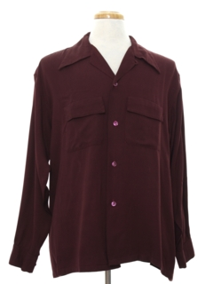 1940's Mens 40s Gabardine Sport Shirt