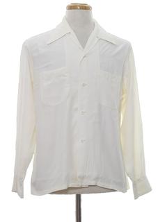 1940's Mens Rayon Sport Shirt