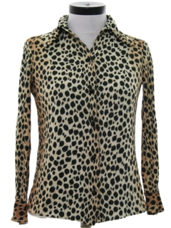 1970's Womens Animal Print Shirt