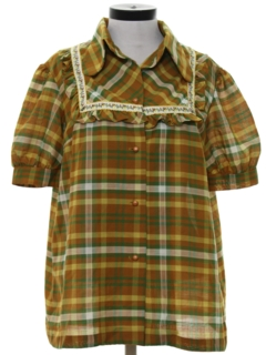1970's Womens Maternity Shirt