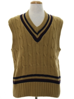 1980's Mens Totally 80s Preppy Sweater Vest