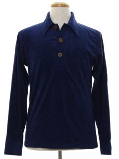 1960's Mens Mod Velveteen Shirt