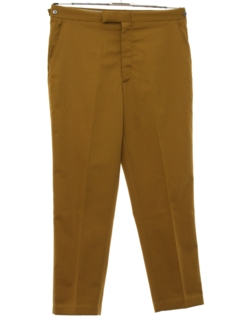1960's Mens Mod Flat Front Work Pants