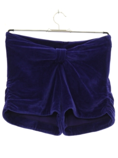1980's Womens Totally 80s Velour Shorts
