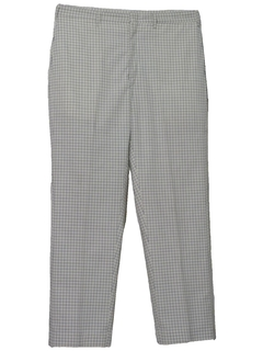 1960's Mens Mod Flat Front Golf Pants