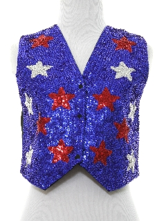 1980's Womens Sequin Cocktail Vest