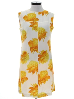 1970's Womens Floral Summer Dress