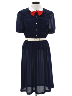 1970's Womens Patrotic Summer Dress