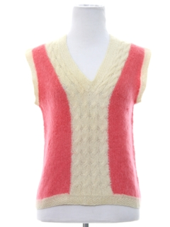1960's Womens Wool Knit Sweater Vest