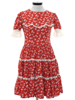 1960's Womens Square Dance Style Dress