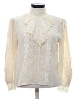 1980's Womens Ruffled Shirt
