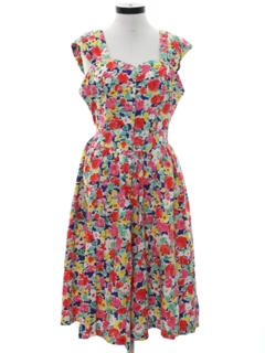 1980's Womens Totally 80s Day Dress
