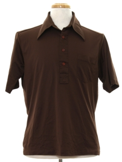 1970's Mens Knit Golf Style Shirt