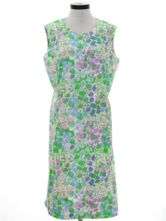 1960's Womens Mod Print Shift Dress