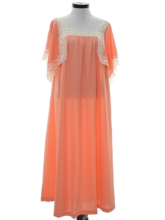 1970's Womens Hippie Maxi A-Line Dress