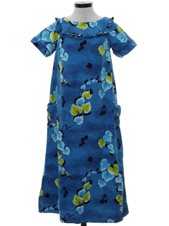 1970's Womens Mod Hawaiian Muu Muu Dress