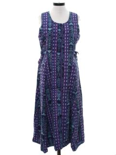 1970's Womens Guatemalan Style Hippie Dress