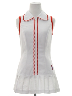 1960's Womens Mod Mini Tennis Dress