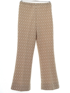1970's Womens Mod Flared Knit Pants