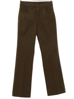 1970's Mens Mod Flared Jeans-Cut Pants