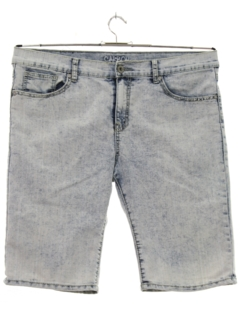 1980's Mens Totally 80s Style Acid Wash Shorts