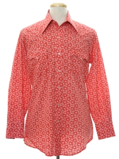 1970's Mens Mod Western Shirt