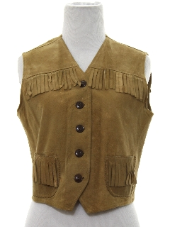 1940's Womens Western Leather Vest