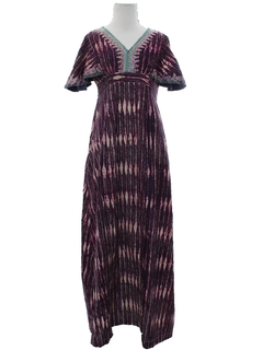1980's Womens Maxi Hippie Dress