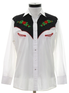 1980's Womens Embroidered Western Shirt