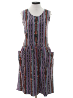 1980's Womens Guatemalan Style Hippie Dress