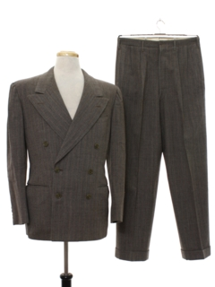 1940's Mens Double Breasted Swing Suit