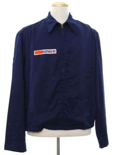 1980's Mens Gas Station Style Work Zip Jacket