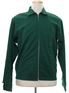 1980's Mens Mod Golf Zip Jacket