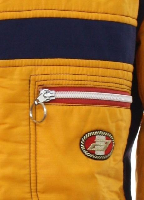 Vintage Anba of Austria Eighties Jacket  Early 80s -Anba of Austria- Mens  gold yellow background nylon longsleeve zip front ski jacket with polyester  ... abc8ba04e