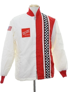 1980's Mens Collectible Totally 80s Coca Cola Racing Jacket