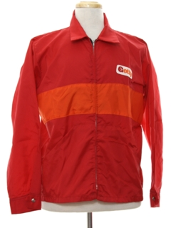 1980's Mens Racing Style Work Windbreaker Jacket