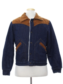 1980's Mens Western Style Denim Jacket