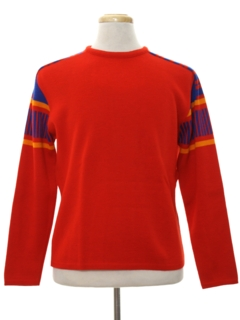1980's Mens Mod Ski Sweater