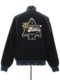 1980's Mens Totally 80s Western Style Zip Jacket