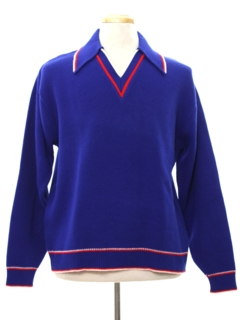 1970's Mens Mod Ski Sweater