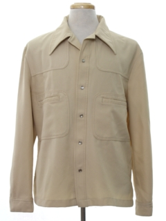 1970's Mens Mod Leisure Style Shirt-Jac Shirt